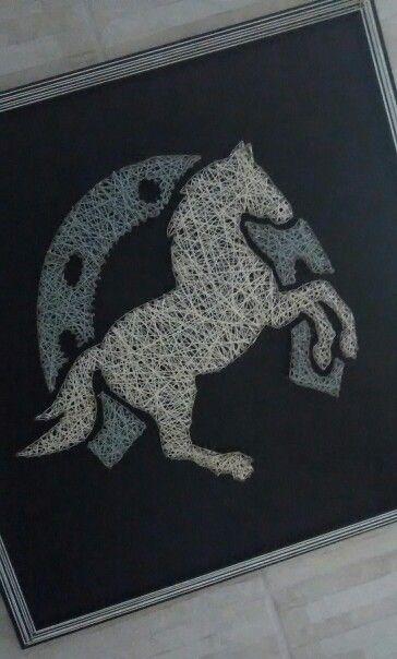 String Art Horse/Cavalo - Esse eu que fiz, meu primeiro.