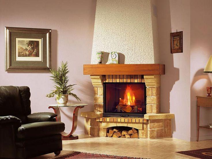 Thira - Seminee rustice de colt   Exclusiv Design - Apa&Foc