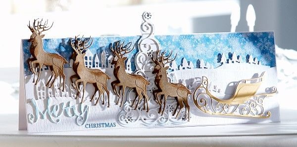 Card made using the Sara Signature Contemporary Christmas collection from Crafter's Companion. #crafterscmpanion