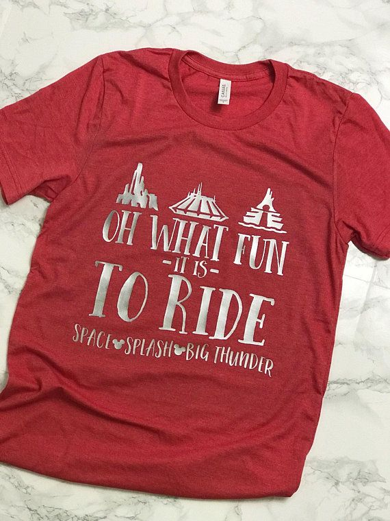 91c7cf84 Planning a trip to Disney during the most magical time of the year? This is  the perfect tee for you! Shown on a red crew neck tee with silver vinyl.