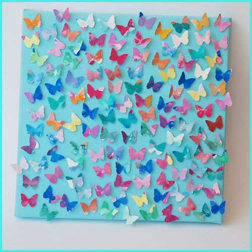 Butterfly collage - I LOVE this idea!