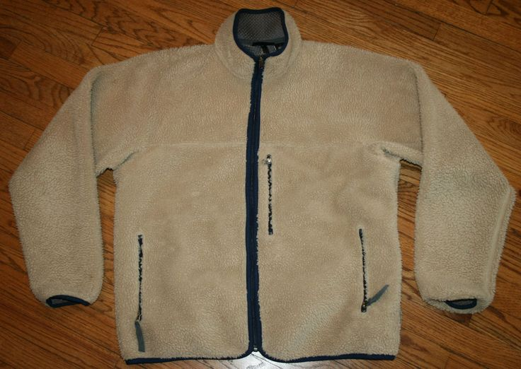 Vintage Patagonia Deep Pile Fleece zip up Jacket Mens Large hiking ...