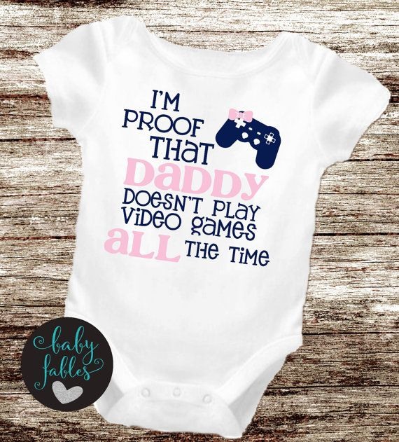 Baby girl shirt Baby Announcement bodysuit geeky by babyfables