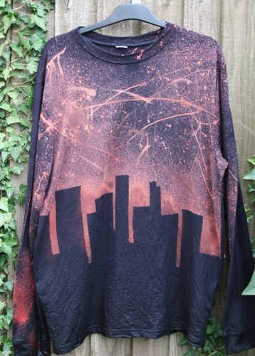 skyline, tie dye, galaxy, grunge 90's, Sweatshirt jumper Oversize, Unisex, | eBay  One of my own designs :)