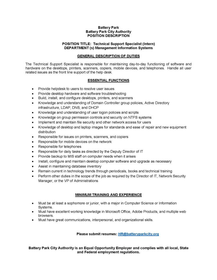 General Intern Job Description General Cover Letter Examples Of