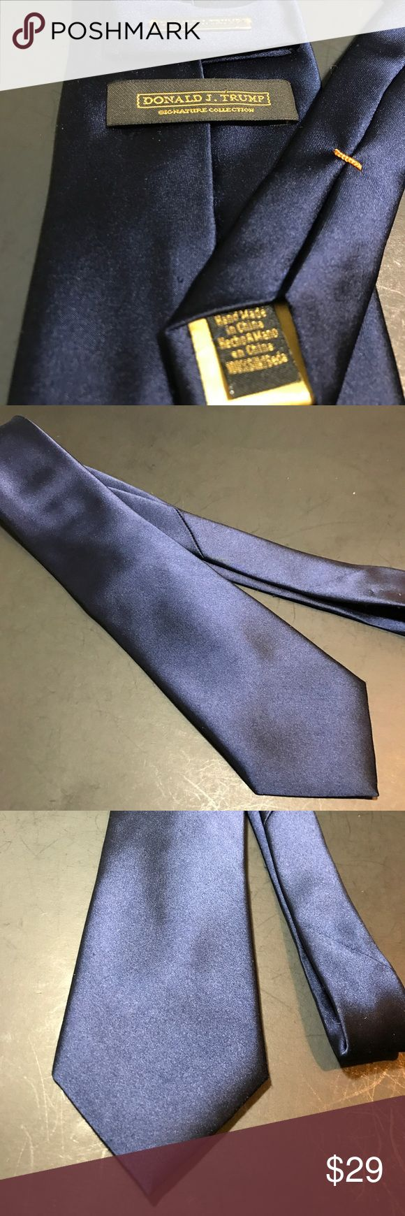 """Donald J Trump navy presidential power tie silk Business power tie for the big meeting. Silky smooth. 60"""" x 3 7/8"""". No flaws. donald Trump Accessories Ties"""