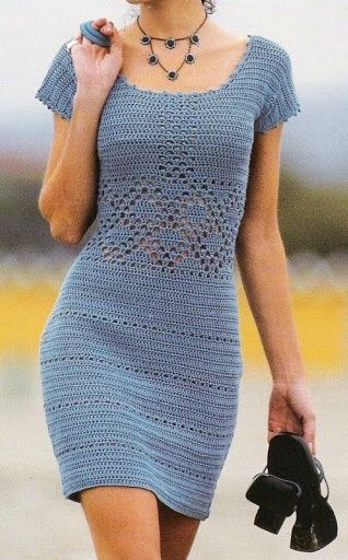 street style gray crochet dress @wachabuy