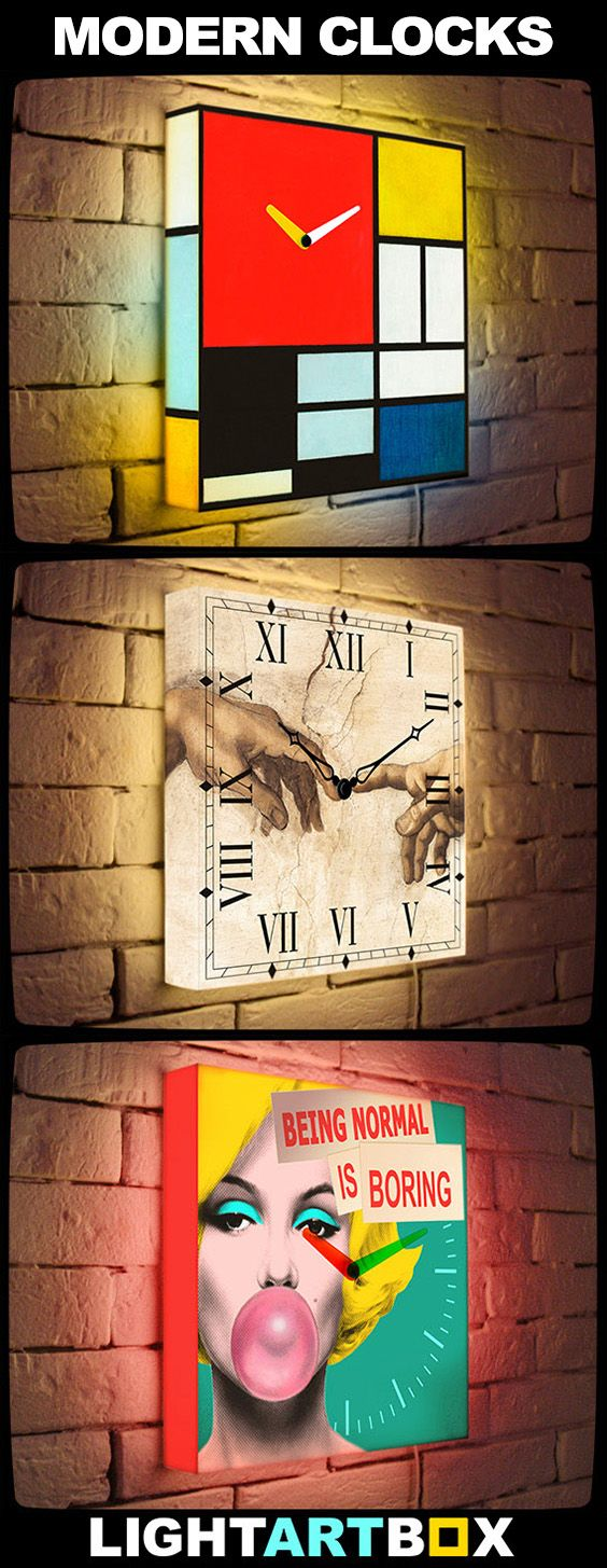 Modern Light Clock - home decor trend 2016! See more at LightArtBox.com