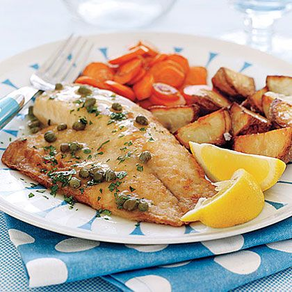 Tilapia Piccata Recipe | Tilapia Piccata is a spin on the traditional Italian dish of veal or chicken piccata. Flaky tiliapia and tangy capers with fresh lemon juice and white wine deliver exceptional flavor to this classic dish. Feel free to substitute most any flaky white fish for the tilapia, if desired.