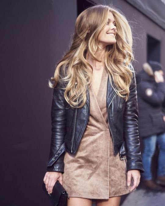Street Style: Nina Agdal attending the BCBGMAXAZRIA NYFW Fall 2016 Runway show wearing BCBG