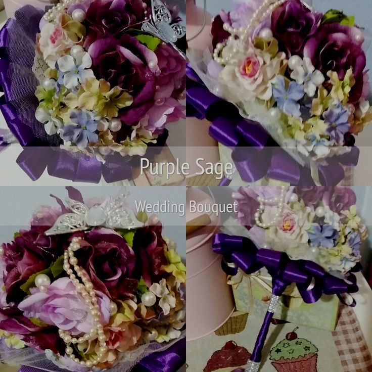 Purple Sage Hand Bouquet