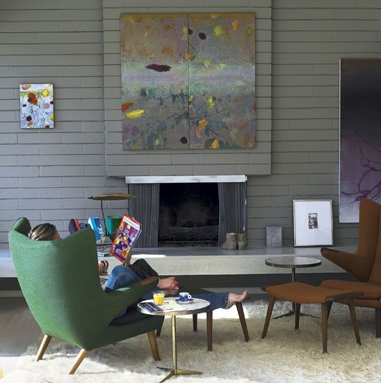 Rachel Griffiths mid century houseMidcentury Modern, House Tours, Mid Century Modern, Midcentury Magic, Living Rooms, Midcentury Marvel, Modern Home, Modern House, Rachel Griffith