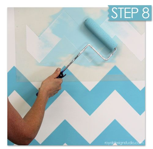 Nuevas ideas geom tricas con plantillas para pintar for Ideas para pintar paredes