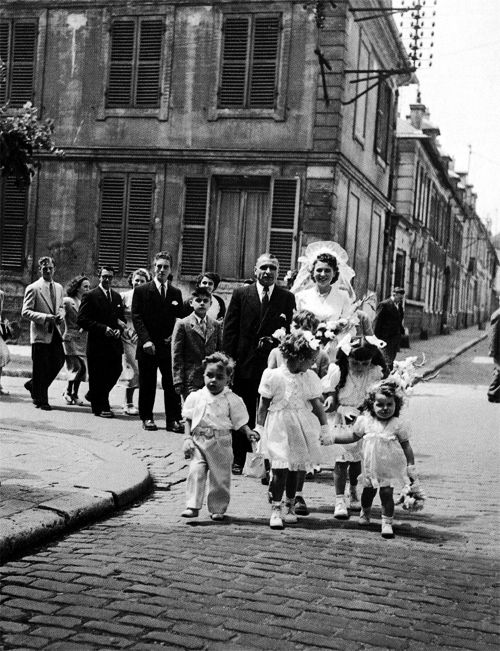 Paris Wedding, 1950, by Robert Doisneau
