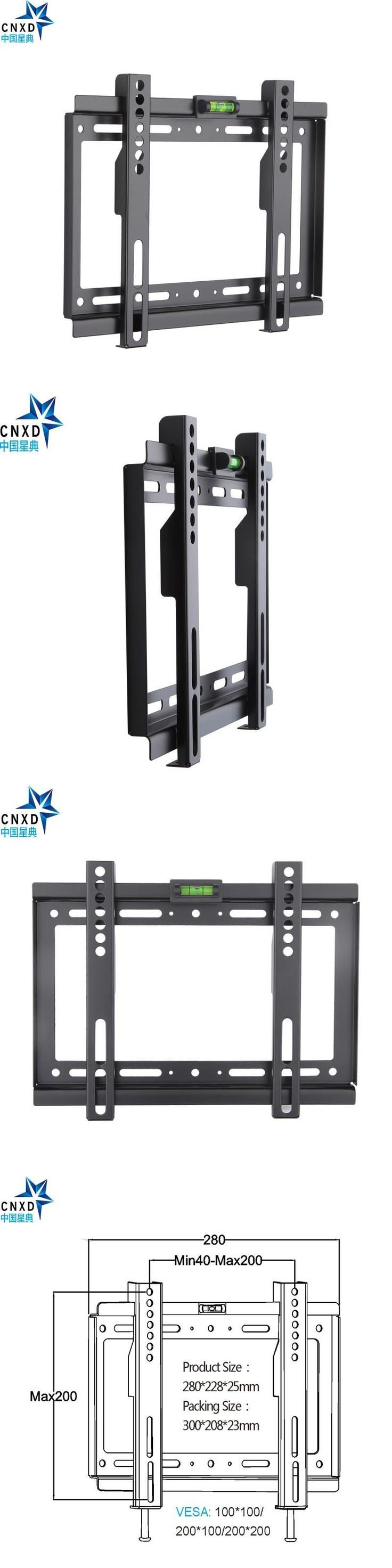 Slim LCD LED Plasma TV Wall Mount Bracket 14~32 Inch Max VESA 200*200mm Super Strong 88lbs Weight Capacity