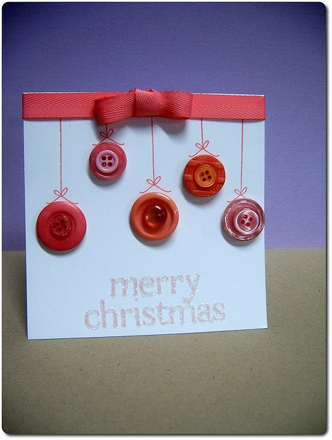 Button Christmas Card by lunastamps, via Flickr