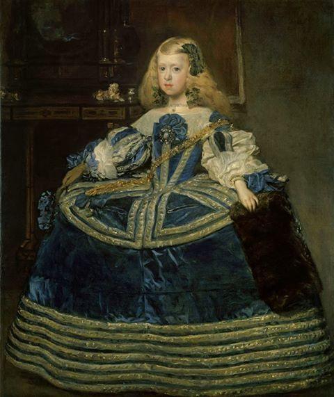Diego Velazquez - Infanta Margarita con vestido azul, 1659
