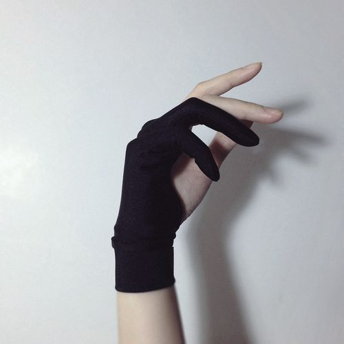 Looks like an archery glove...