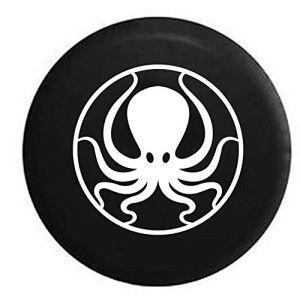 Black Jeep Wrangler Octopus Spare Tire Cover