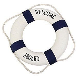 $6.89 Amazon.com: Peyan 4 Sizes Navy Style Lifebuoy Nautical Aboard Sign In Home Decor Decorative Life Ring Room Bar Home Decoration: Home & Kitchen