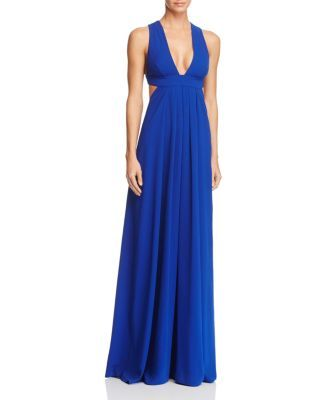 Jill Jill Stuart V-Neck Cut Out Gown  | Bloomingdale's