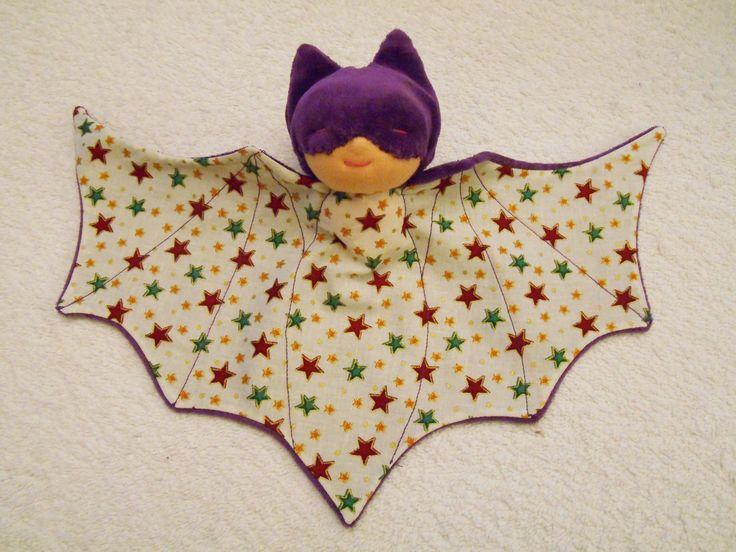 Doudou chauve souris, super héros, bat doudou violet : Jeux, jouets par petites-chiffonneries