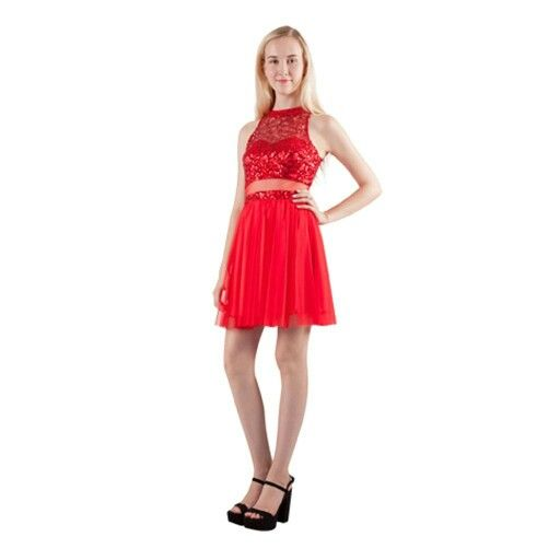 Sequin & tulle red dress. Very cute!
