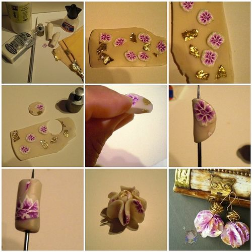 Tutorial for earrings, via Flickr, from Carme Garcia.  Really pretty and dainty! Thanks, Carme!