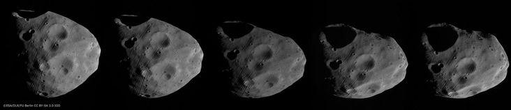 Saturn Photobombs Show New Images of Mars Moons Phobos, Deimos