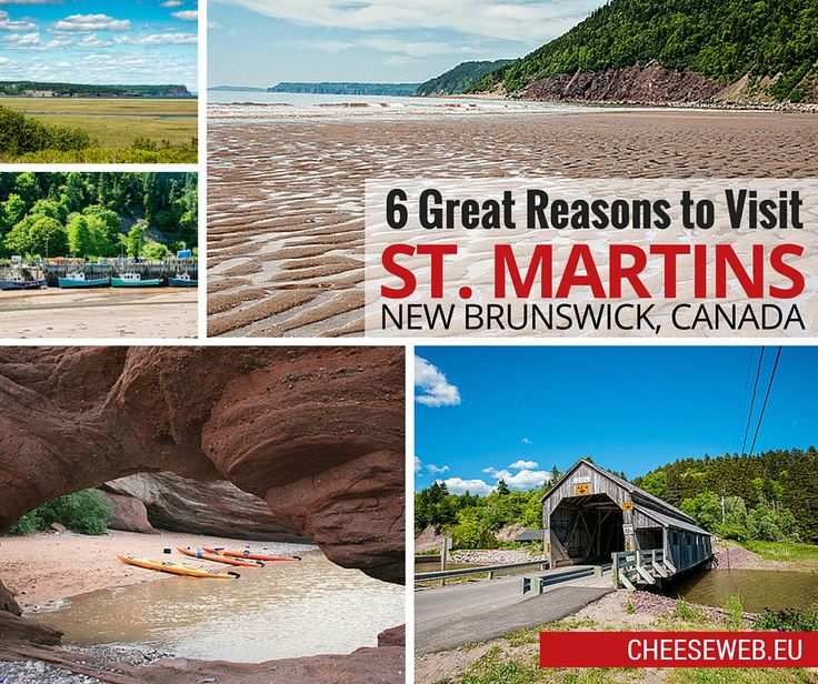 The tiny village of St. Martins, New Brunswick makes an ideal base for exploring the Fundy coast of Atlantic Canada and offers plenty of things to do for travellers