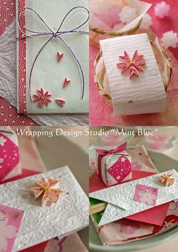 クイリングで桜のアクセント 作り方