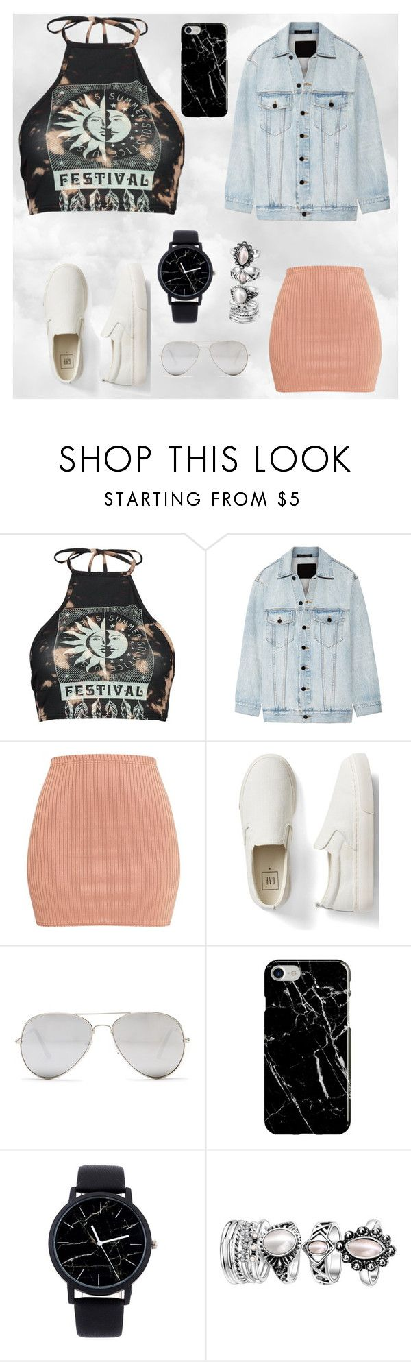 """""""ummm ya"""" by lilmainella on Polyvore featuring Boohoo, Alexander Wang, Gap, Sunny Rebel and Recover"""