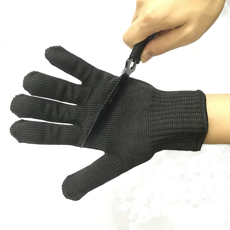 1 Pair Safety Gloves Protect Stainless Steel Wire Gloves Cut Metal Mesh Butcher Anti-cutting Breathable Work Gloves