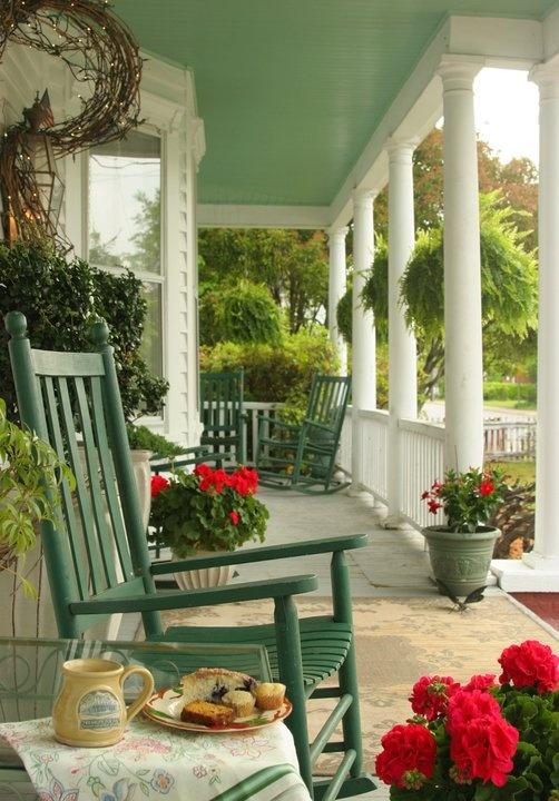 Porch |  The White Doe Inn located in Manteo, NC.
