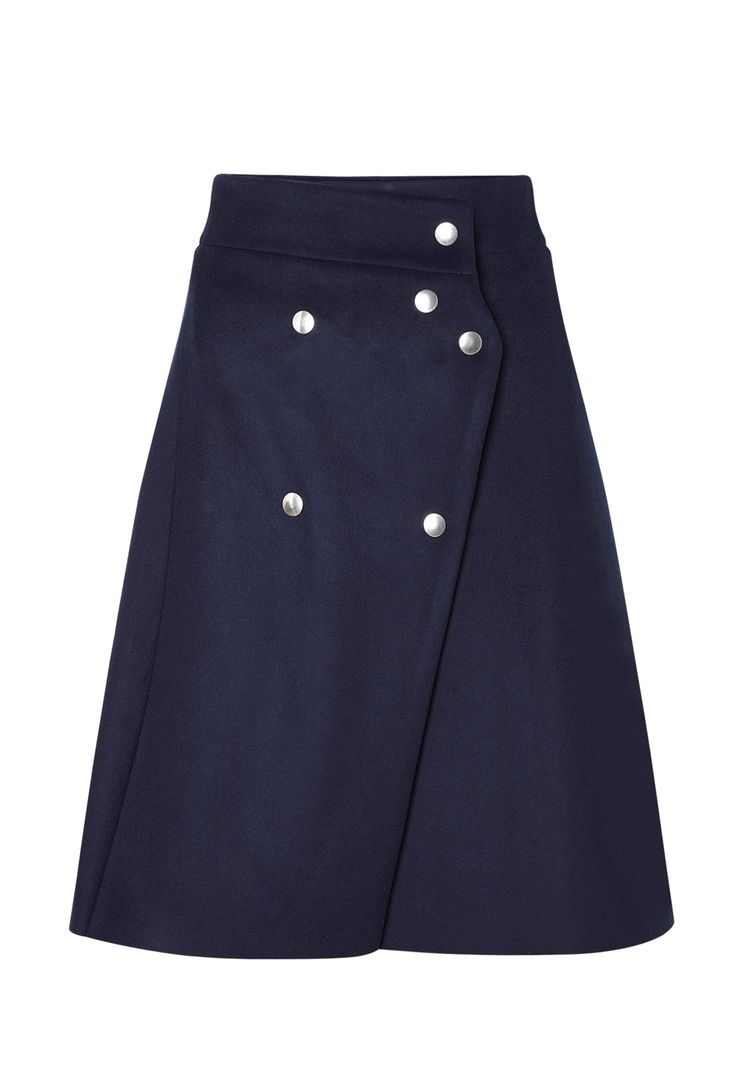 Coin Wool Rivet A Line Skirt by Acne