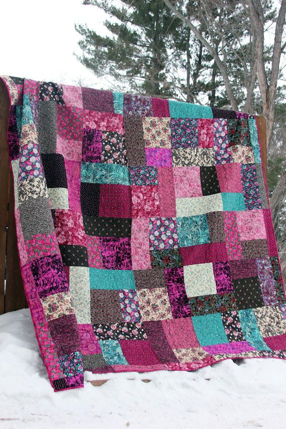 King size patchwork quilt / Queen size by DarsSewingCreations