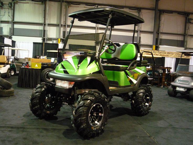 Custom Club Car Golf Carts | Club Car Precedent Custom Paint Black Roof  Custom Upholstery 11