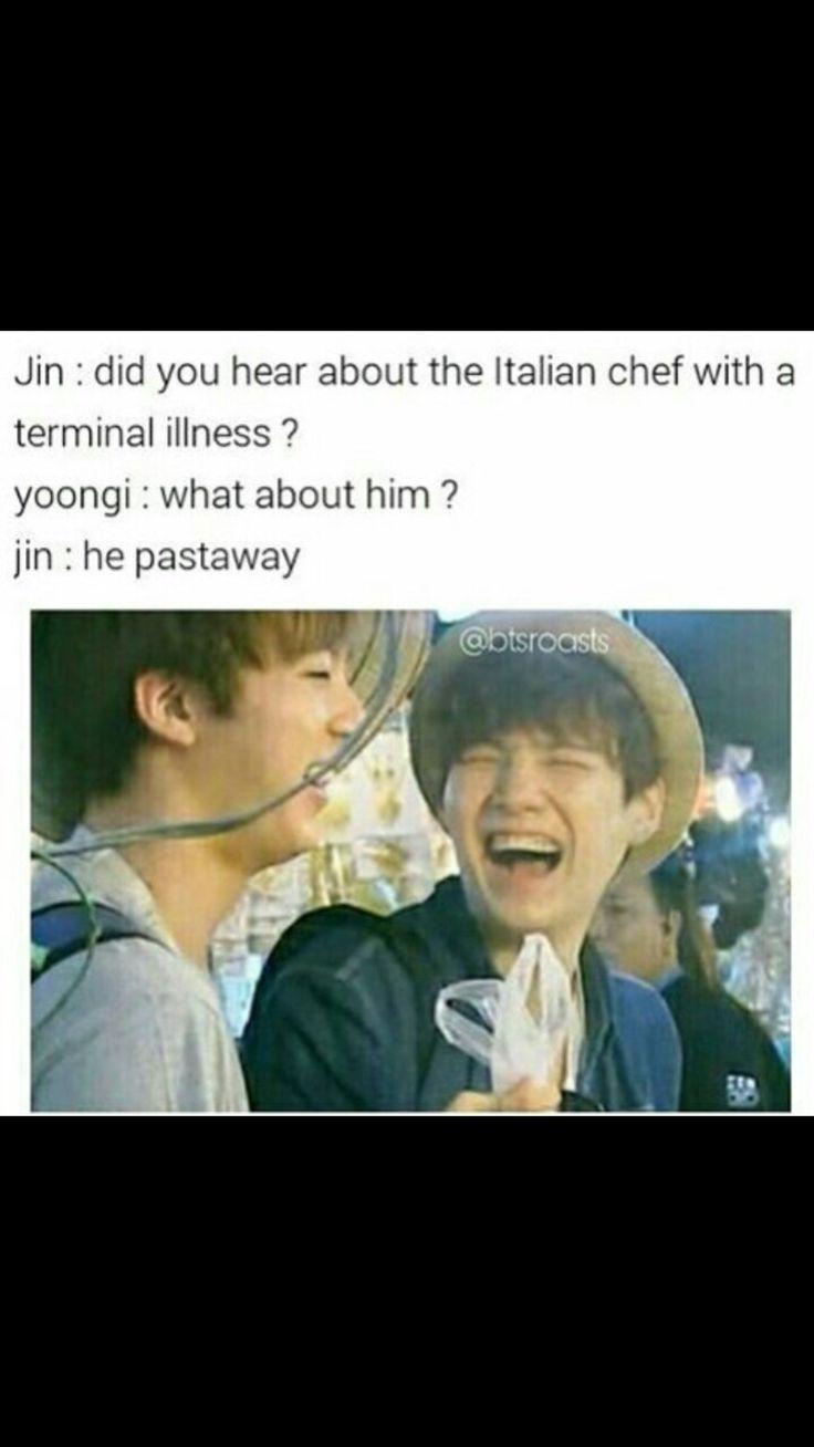 Jin's  dad jokes tho