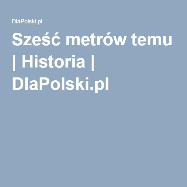 Sześć metrów temu | Historia | DlaPolski.pl