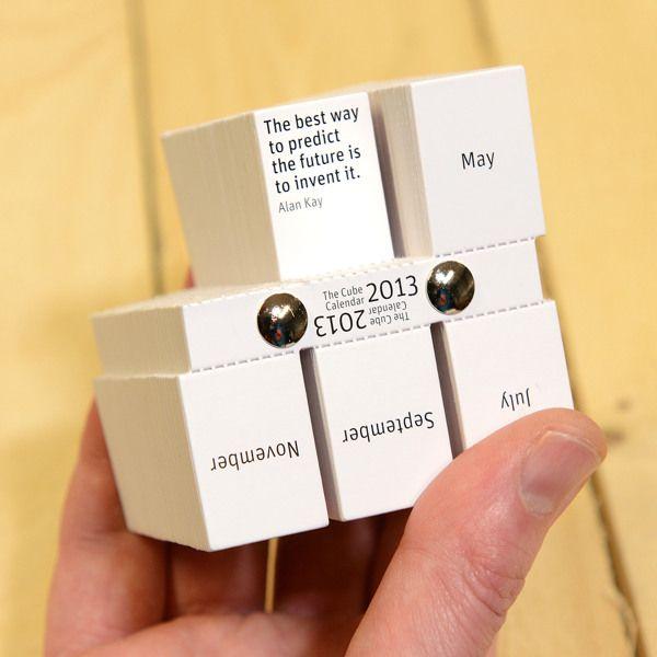 每天一張勵志小卡的方塊日曆 | MyDesy 淘靈感