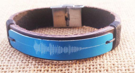 Laser Engraved  Sound Wave Bracelet Laser by SnowyOwlsNest on Etsy