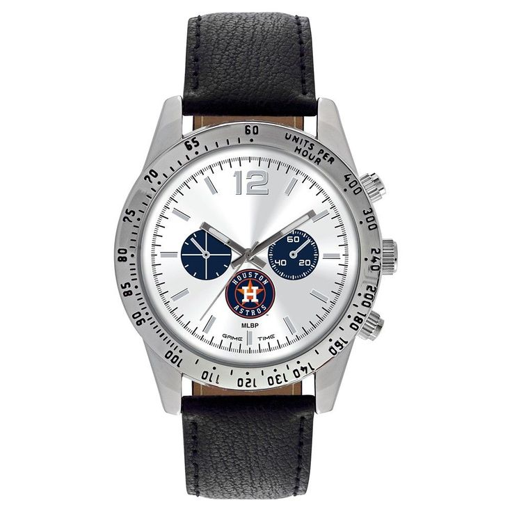 Men's Game Time MLB Letterman Sports Watch - Black - Houston Astros