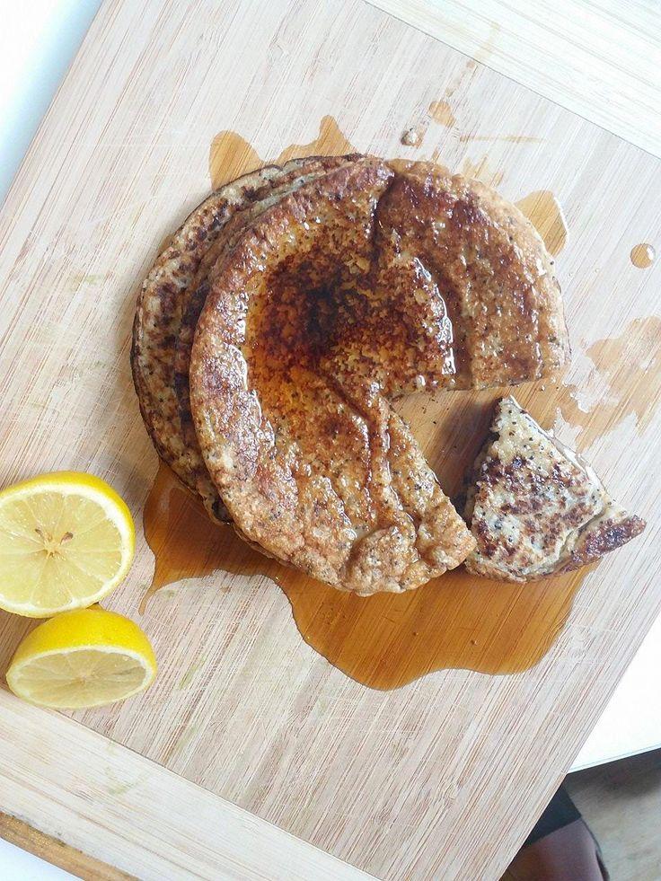 Pancakes de Limón-Amapola <3  ¡Brunch perfecto!  #vegano