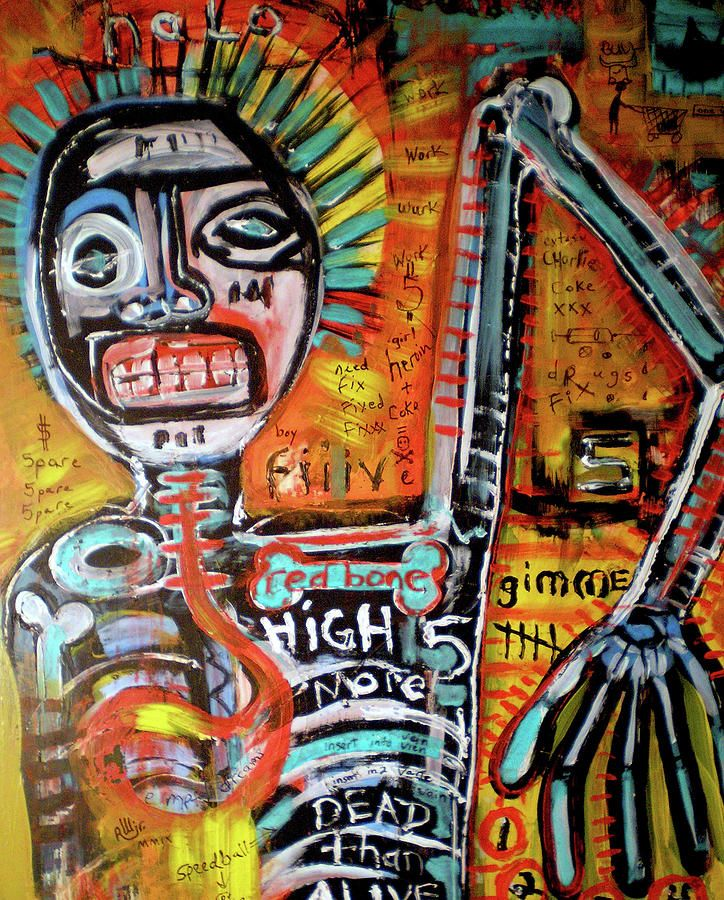 Death Of Basquiat Painting - Death Of Basquiat Fine Art Print