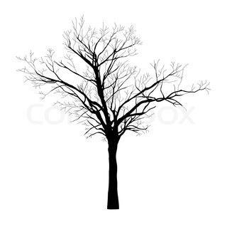 Pretty bare-branched Tree Tattoo