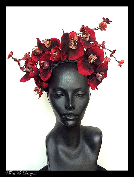 MADE TO ORDER Red Orchid & Cherry Blossom  by MissGDesignsShop, $135.00