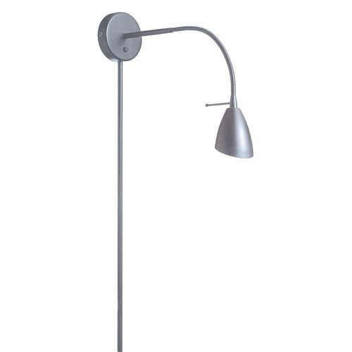 dainolite satin chrome onelight modern plugin wall lamp