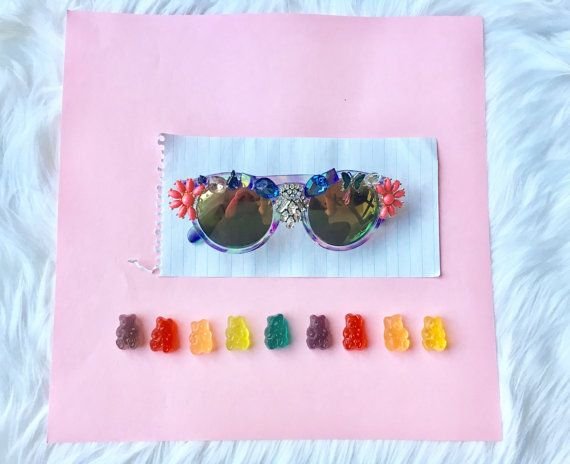 Embellished Festival Sunglasses by coolingglasscompany on Etsy