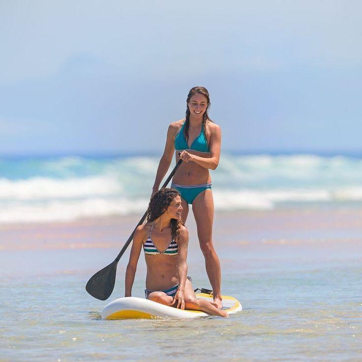 Mae Mahe csúsztatható háromszögfazonú bikinifelső, széles csíkokkal