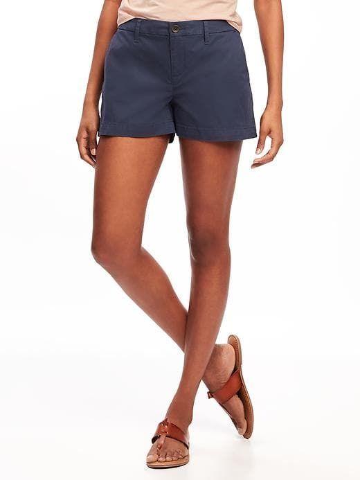 "Old Navy Mid-Rise Everyday Khaki Shorts for Women (3 1/2"")"